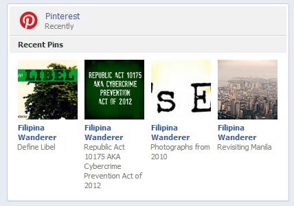 Pinterest facebook Timeline