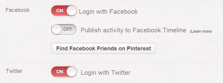 Pinterest Settings
