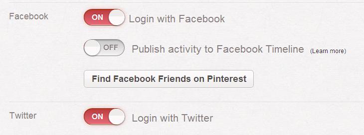 Pinterest Settings
