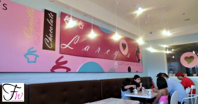 Inside Larcys Cupcakery Cafe