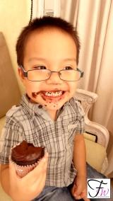 With Aidan. The real cupcake monster! Sooo cute!