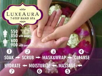 Luxe Aura 7 step hand spa